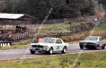 Ford Mustang (Jackie Oliver) & Falcon (Gawaine Baillie) Brands Hatch BTCC 1966